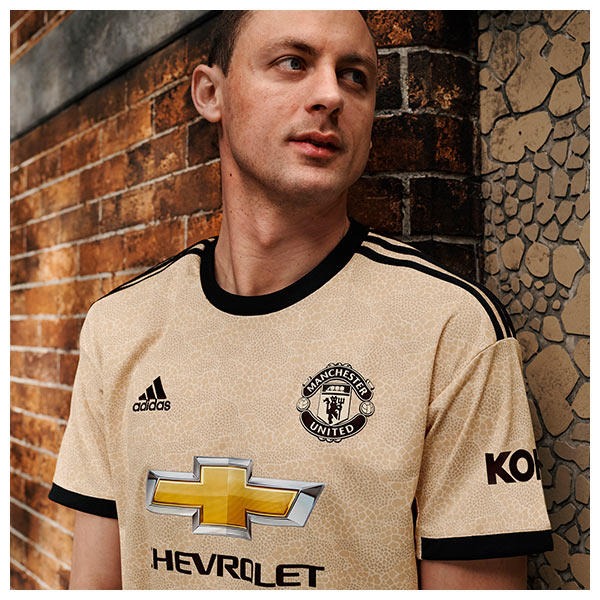 Nemanja Matic wears the 2019/20 Manchester United Away Kit