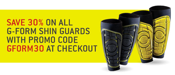 30% Off g-form Shin Guards promotion