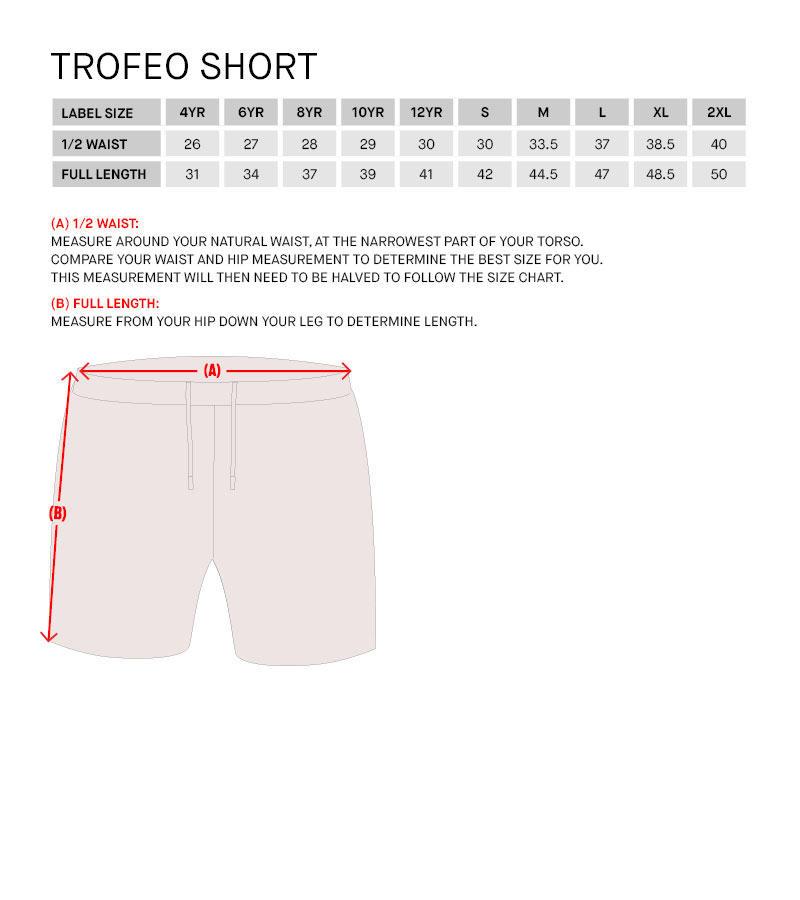 Lotto Teamwear sizing guide