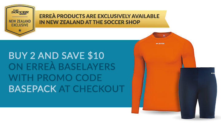 Buy 2 Errea baselayers and save $10