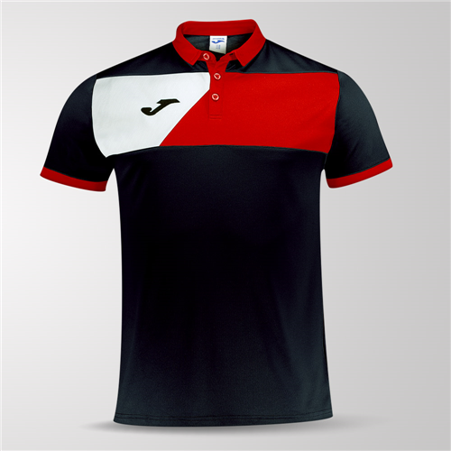 98899a47567 Joma Crew II Polo Shirt – Black Red