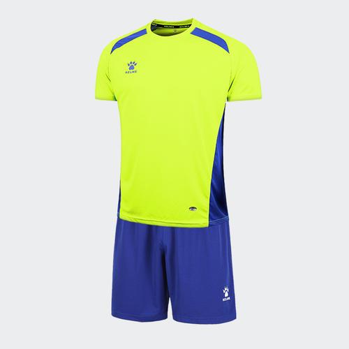 0f0a35a14a4 Kelme Academia Jersey   Short Set – Neon Green Royal Blue