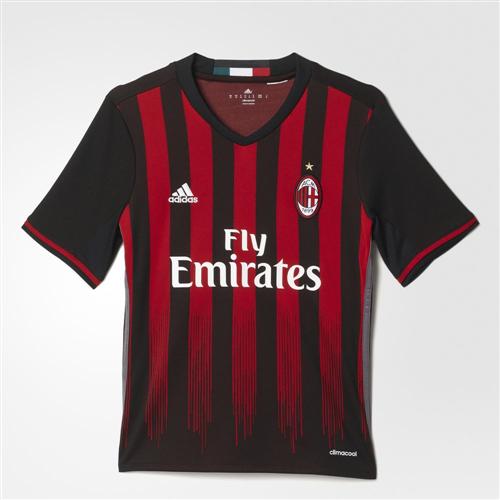 d834ca06c4d adidas Junior 2016-17 AC Milan Home Shirt
