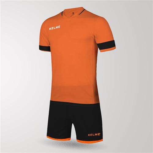 04704097643 Kelme Capitan Jersey & Short Set – Orange/Black | The Soccer Shop
