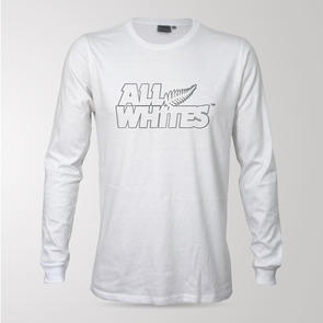 All Whites Logo Long Sleeve Supporter Tee