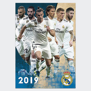 Real Madrid 2019 A3 Calendar
