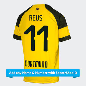 Puma Junior 2018-19 Borussia Dortmund Home Shirt – PLAYER PRINTED
