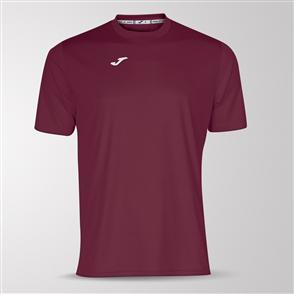 Joma Combi Short Sleeve Shirt – Maroon