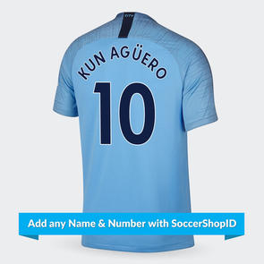 Nike Nike 2018-19 Manchester City Home Shirt - PLAYER PRINTED