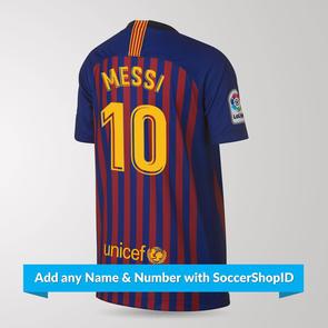 Nike Nike Junior 2018-19 Barcelona Home Shirt - PLAYER PRINTED