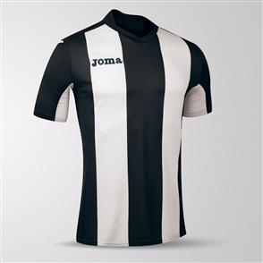 Joma Pisa Short Sleeve Shirt – Black/White