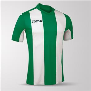 Joma Pisa Short Sleeve Shirt – Green/White