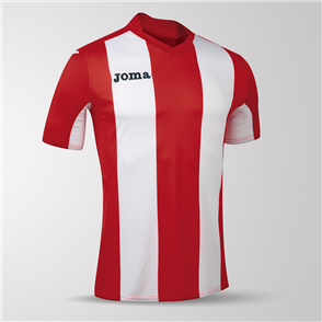 Joma Pisa Short Sleeve Shirt – Red/White