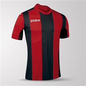 Joma Pisa Short Sleeve Shirt – Red/Black