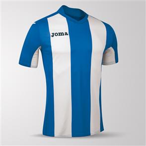 Joma Pisa Short Sleeve Shirt – Blue/White