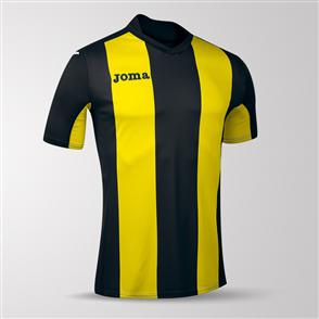 Joma Pisa Short Sleeve Shirt – Black/Yellow