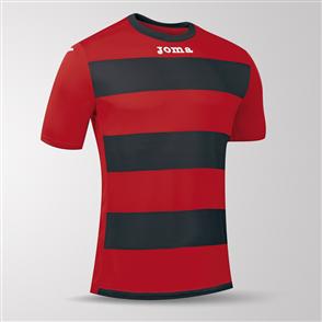 Joma Europa III Short Sleeve Shirt – Red/Black