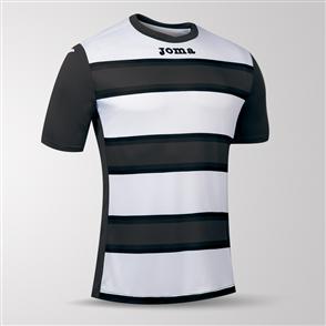 Joma Europa III Short Sleeve Shirt – Grey/White