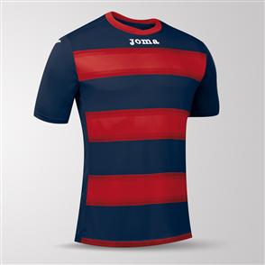 Joma Europa III Short Sleeve Shirt – Navy/Red