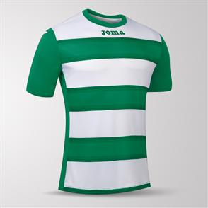 Joma Europa III Short Sleeve Shirt – Green/White