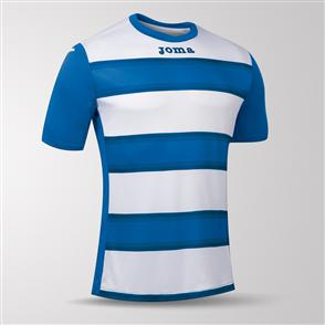 Joma Europa III Short Sleeve Shirt – Blue/White