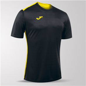 Joma Campus II Short Sleeve Shirt – Black/Yellow