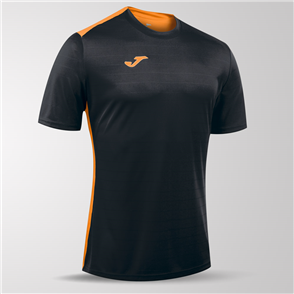 Joma Campus II Short Sleeve Shirt – Black/Orange