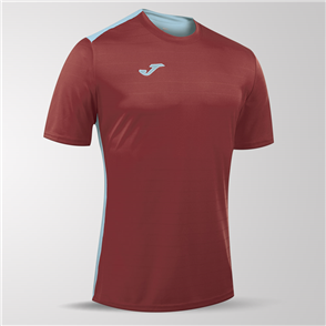 Joma Campus II Short Sleeve Shirt – Maroon/Blue