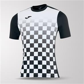 Joma Flag Short Sleeve Shirt – Black/White