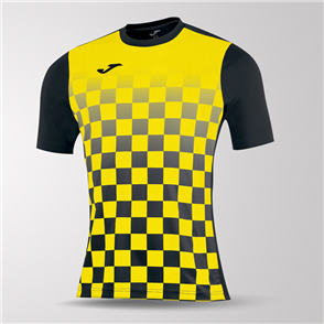 Joma Flag Short Sleeve Shirt – Black/Yellow
