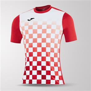 Joma Flag Short Sleeve Shirt – Red/White