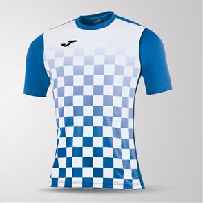 Joma Flag Short Sleeve Shirt – Blue/White