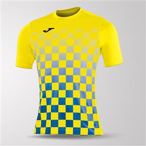 Joma Flag Short Sleeve Shirt – Yellow/Blue