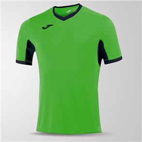 Joma Champion IV Short Sleeve Shirt – Green/Black