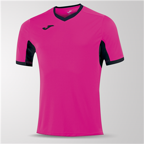 Joma Champion IV Short Sleeve Shirt – Pink/Black