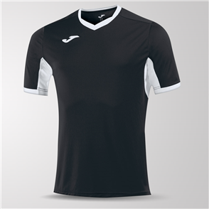 Joma Champion IV Short Sleeve Shirt – Black/White