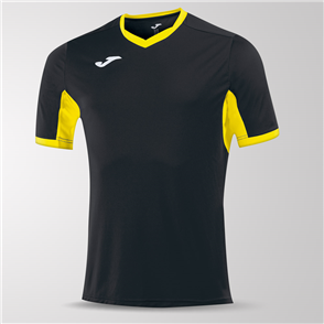 Joma Champion IV Short Sleeve Shirt – Black/Yellow
