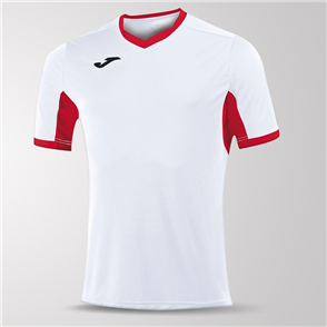 Joma Champion IV Short Sleeve Shirt – White/Red