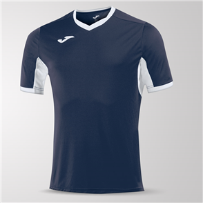 Joma Champion IV Short Sleeve Shirt – Navy/White