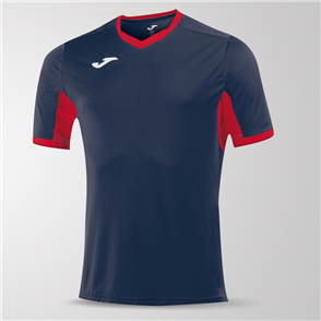 Joma Champion IV Short Sleeve Shirt – Navy/Red