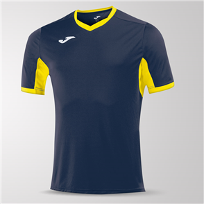 Joma Champion IV Short Sleeve Shirt – Navy/Yellow