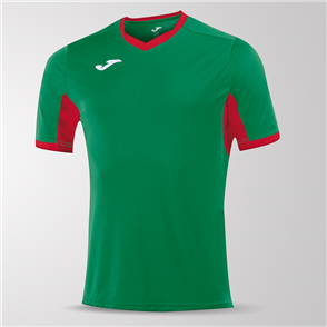 Joma Champion IV Short Sleeve Shirt – Green/Red