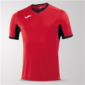 Joma Champion IV Short Sleeve Shirt – Red/Black