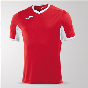 Joma Champion IV Short Sleeve Shirt – Red/White