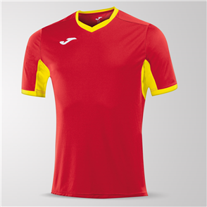 Joma Champion IV Short Sleeve Shirt – Red/Yellow