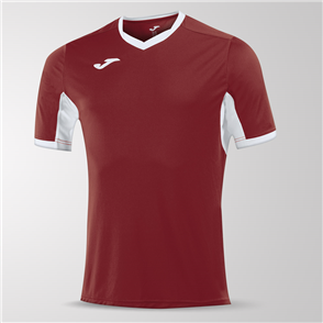 Joma Champion IV Short Sleeve Shirt – Maroon/White
