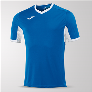 Joma Champion IV Short Sleeve Shirt – Blue/White
