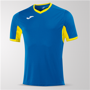 Joma Champion IV Short Sleeve Shirt – Blue/Yellow
