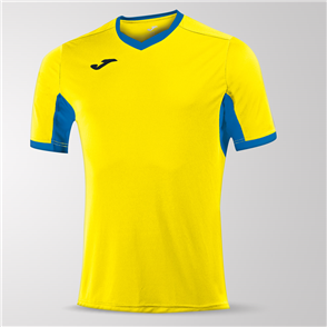 Joma Champion IV Short Sleeve Shirt – Yellow/Blue