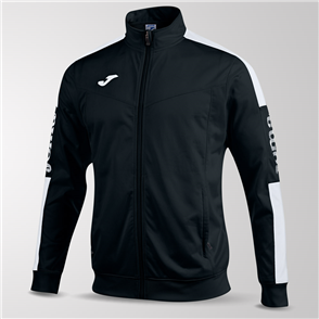 Joma Champion IV Full-Zip Jacket – Black/White